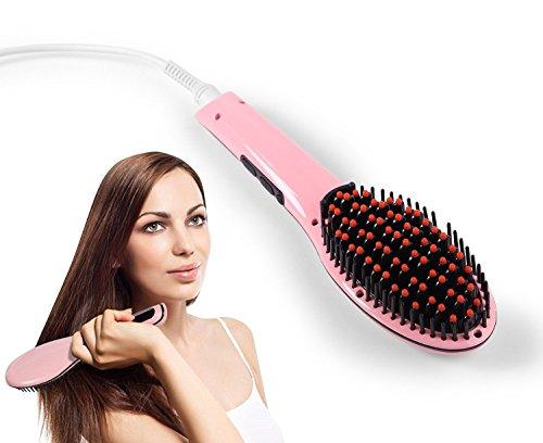 Ohuhu® ferro per capelli istantaneo, piastra per capelli con spazzola setosa per lisciare e pettinare