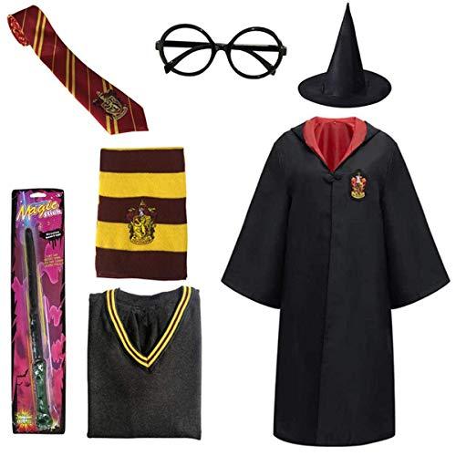 O.AMBW Disfraz de Cosplay Harry Potter Gryffindor de pelicula para ninos adultos Sueter de abrigo calido de otoño con camisa blanca de manga larga y falda