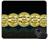 Yanteng Tappetino per Mouse da Gioco in Gomma Antiscivolo, tappetini per Mouse da Gioco Personalizzati con Soldi di Carta Bitcoin