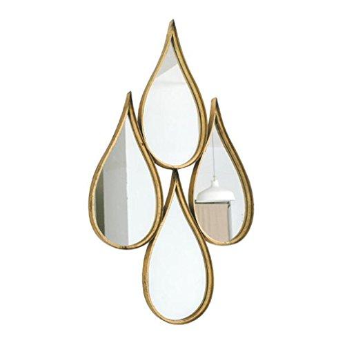 Bloomy Home Wasser Tropfen Eisen Wand Spiegel mit für Badezimmer Wohnzimmer Loft industriellen Stil Dekorative Spiegel