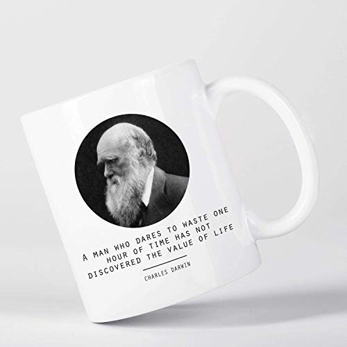 Value Of Life Charles Darwin Quote Origin Of Species Evolution Atheist Mug M1422