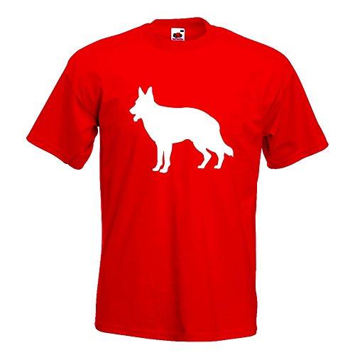KIWISTAR - Deutscher Schäferhund Hund T-Shirt in 15 verschiedenen Farben - Herren  Funshirt bedruckt