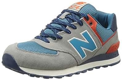 New Balance ML574, Herren Sneakers, Grau (Grey/Petrol/Orange), 40 EU (6.5 Herren UK)