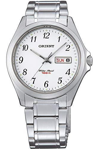 Orient Unisex Adult Analogue Quartz Watch with Stainless Steel Strap FUG0Q005S6