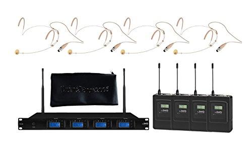 IMG Sistema Microfonico Wireless Professionale UHF 1000 Canali / 4 Headset