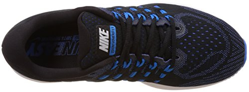 Nike Air Zoom Vomero 11, Chaussures de Running Entrainement Homme, Negro, 40 EU Multicolore (Black/White-Photo Blue-Racer Blue)