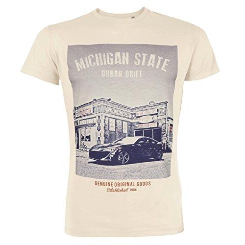 Preisvergleich Produktbild Herren Michigan State Amerikanisch Auto T-shirt - GT86 Drift Auto (M)