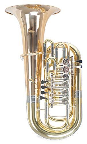 Lechgold FT15/6L F-Tuba - Material: Messing/Goldmessing - Schallbecher: 400 mm - konische Bohrung: 19,6-21,2mm - inkl. Koffer - lackiert