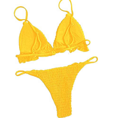 Bfmyxg Sexy Bikini für Damen Lady Fashion Zweiteiliger gefüllter BH Bademode Beachwear Stilvolles Set Monokini Bademode Tankini-Sets Badeanzug Bodys
