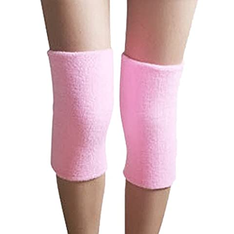 ACME Elastische Kniebandage Knieschützer für Damen und Herren,25*12cm,2er Set,Rosa