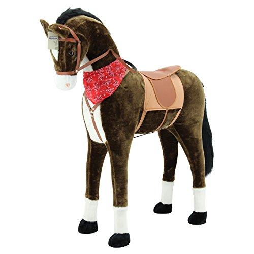Sweety Toys 11525 GIANT XXL Riesen Pferd Plüschpferd Chocolate Stehpferd - 2