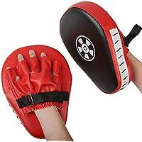 1 par Almohadillas de Boxeo Objetivos a Mano Handguards Boxing Paos Muay Thai Kick Boxing Martial Arts Kick Pad Training Color Rojo