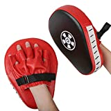Leonard 1 Pair of Curved Leather Boxing Focus Pads for MMA Curved Muay Thai Pao Punch Training Target Kick Boxing Pads Mitts
