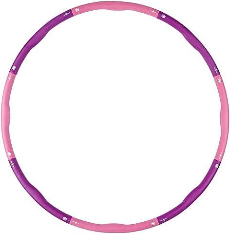 Hoopomania Light Hoop, Hula Hoop 1.2kg, Mehrfarbig(Pink,