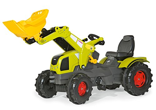 Claas Trettraktor Rolly Toys 611041 rollyFarmtrac Claas Axos 340 | Trettraktor mit Lader | Traktor mit Motorhaube zum Öffnen, Sitzverstellung, Flüsterreifen | für Kinder ab 3 Jahren | Farbe grün