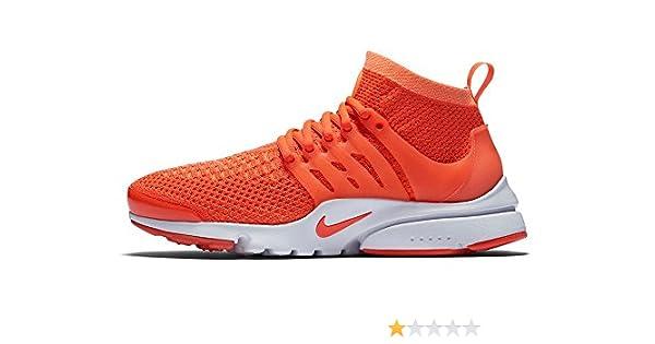 dba5125456de4 Nike Men s Air Presto Orange Mesh Ultra Flyknit - 9  Buy Online at Low  Prices in India - Amazon.in