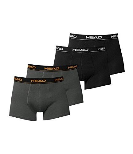 HEAD Herren Boxershorts 4er Pack 841001001 2er Dark Shadow / 2er Schwarz