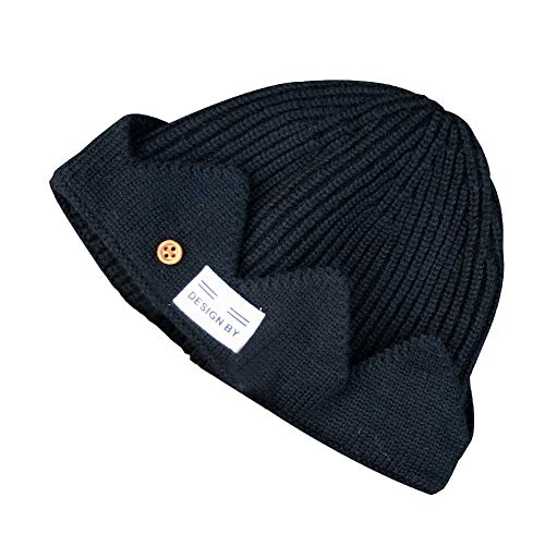 play Mütze Archie Comics Jones Jughead Kostüm Beanie Häkeln Krone Hut Winter Warm Hat(56-58cm) Schwarz ()