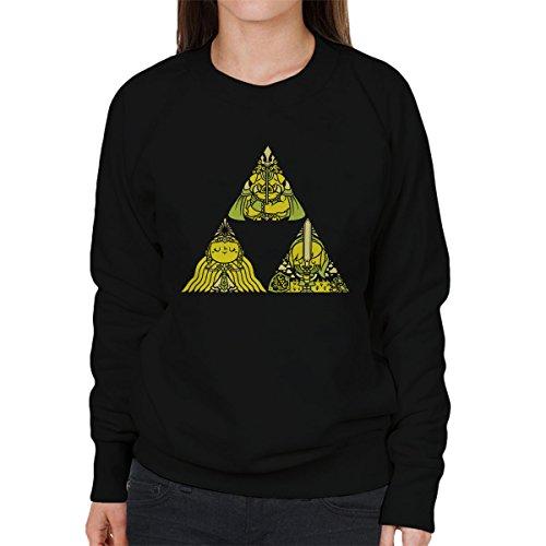 Legend Of Zelda Triforce Women's Sweatshirt Black
