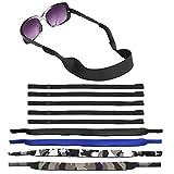 Senhai 4 Pezzi Cinturino per Occhiali da Sole Impermeabile con Nuoto Immersione Galleggiante Materiale in Neoprene e 4 Fermi per Occhiali Morbidi per Lo Sport, la Lettura