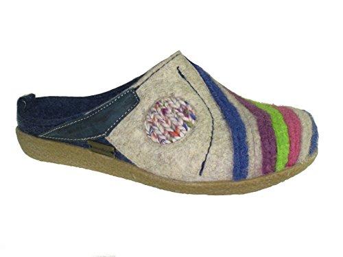 Haflinger Schuhe Damen Herren Hausschuhe Pantoffeln Wolle Blizzard Arte 738013 (072) jeans