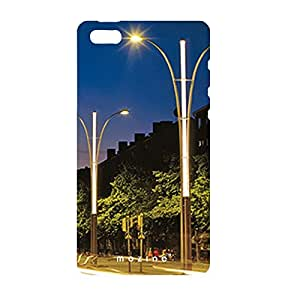 Mozine Street Light printed mobile back cover for Apple Iphone 4s