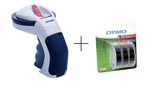 Dymo Set - Omega Prägegerät mit Dymo Prägeband 3er Blister schwarz