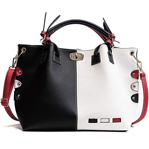 Lrxhgod tote borsa a tracolla a tracolla per borsa di grande capacità femminile big bag semplice selvaggio,black