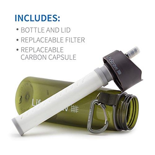 LifeStraw® Go 2-stage Filtration // Wasserflasche mit 2-stufiger Filtration – Aktivkohle entfernt Bakterien & Protozoen // Reduziert Chemikalien & schlechten Geschmack - 5