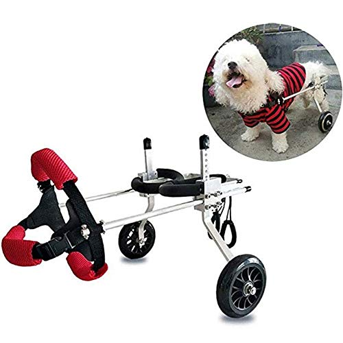 Simis 2 Räder Hunderollstuhl, Multifunktions-Haustier-Rehabilitations-Trainingsfahrzeug-justierbarer