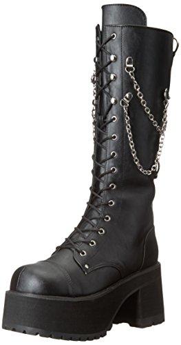 nisex kniehohe Stiefel mit Kette Detail schwarz - (EU 39 US = 7) - Demonia ()