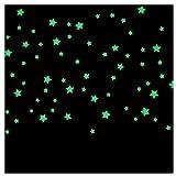 Generic 100PC Kinder-Schlafzimmer fluoreszierend Leuchten im Dunkeln Sterne Wandaufkleber