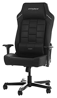 DXRacer (el Original Boss B120 Gaming Chair para High End PC/PS4/xbox/Nintendo, ergonómico Escritorio Silla Oficina de Piel sintética, Color Negro
