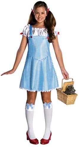 Wizard of Oz Dorothy tm Jugendliches Kostümskleid mit Haarverbeugungen. Vereinigten Staaten kleiden Anordnen nach der Größe 2-4 an. SCHLIESST PERÜCKE, KORB, TOTO, SOCKEN UND SCHUHE (Toto Zauberer Von Oz Kostüm)