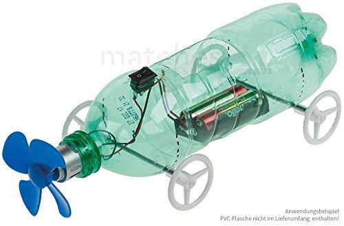 matches21 Propeller-Fahrzeug Recycling Bausatz Recyclingcar Werkset Bastelset mit Propeller-Antrieb für Kinder ab 10 Jahren