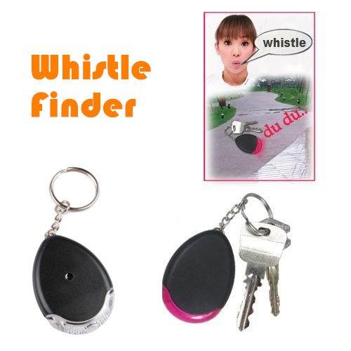 Bluelover Controllo del suono perso Key Finder portachiavi Locater torcia LED nuovo - Piombo Portachiavi