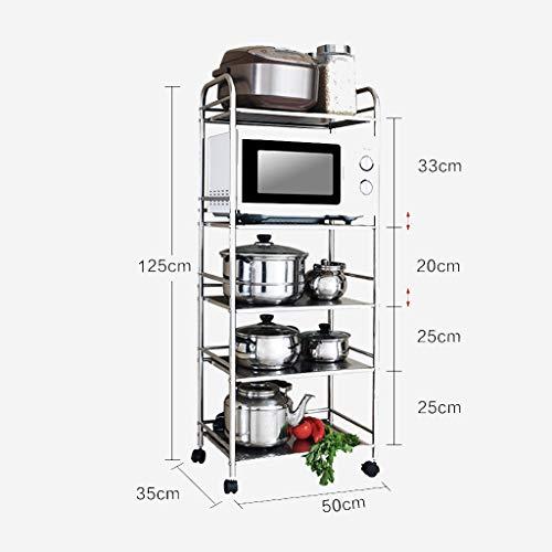 Yuang Küchenregal Mikrowelle Rack Landung Edelstahl Topf Rack Küche Liefert Eintritt Lag