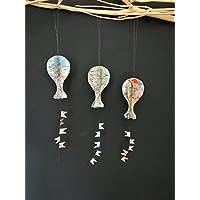 3er-Set kleine, bunte Luftballons aus Landkarte
