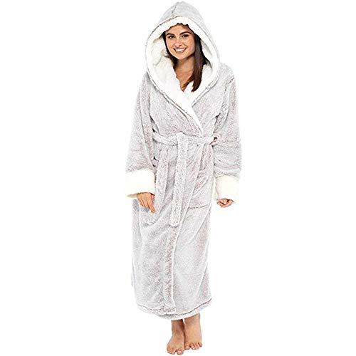 Winter Plüsch Verlängert Schal Weichen Bademantel Mit Kapuze Frauen Nachthemd Hause Kleidung Warme Bademäntel Morgenmäntel Robe Mantel