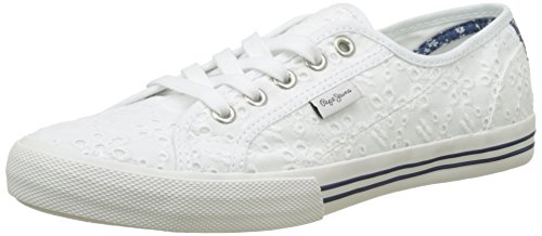 Pepe Jeans Girls' Baker Tie Dye Low-Top Sneakers, White (White), 4