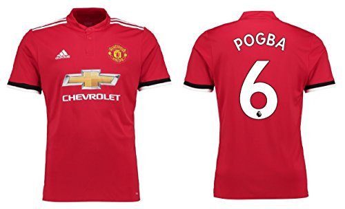 Maillot homme ADIDAS MANCHESTER UNITED 2017–2018 Home – Pogba 6, Pogba 6