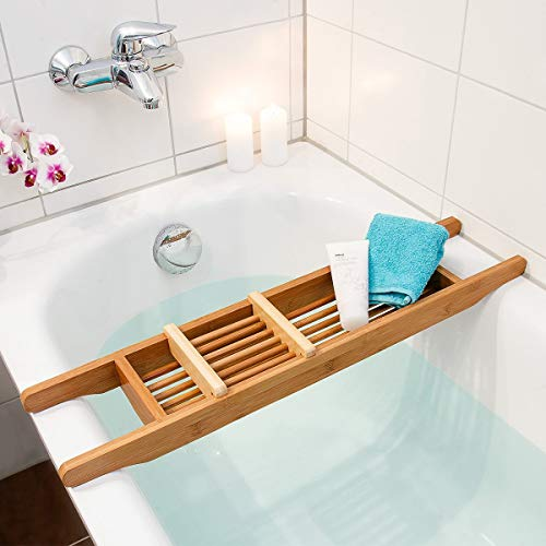 Relaxdays Badewannenauflage aus Bambus