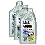 3x Motoröl Mobil Super 3000 Xe 5w-30 1l Hochwertiges Leichtlauf Motorenöl Synthtisch Benzin Und Diesel Motor Geringer Aschegehalt Synthetic Motoroil Hervorragende Fließeigenschaften