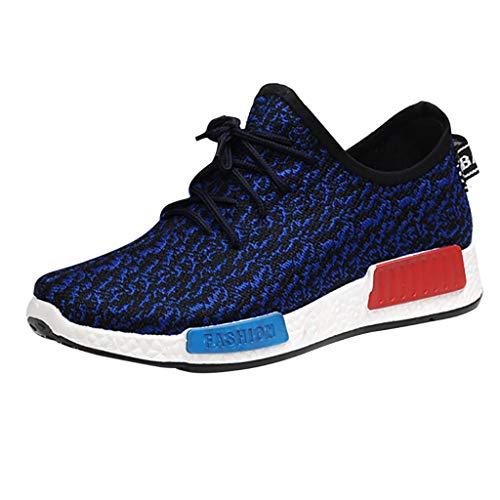 CUTUDE Herren Laufschuhe Turnschuhe Bequem Freizeit Mesh Atmungsaktiv Athletic Laufsport Sneakers Schuhe (Blau, 40 EU)