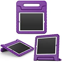 MoKo Funda para iPad 2 / 3 / 4 - Material EVA Lightweight Kids Shock Proof Protector Cover Case con Manija para Apple iPad 2 / 3 / 4 9.7 Pulgadas Tableta, Morado