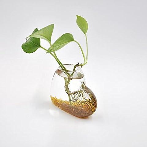 Jarrones Tabla de Flor Botella de Vidrio Florero Diseño de Corazón Contenedores Hidropónicos Terrario
