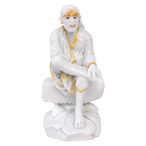 Gallery99 All White Sai Baba Ji Idol