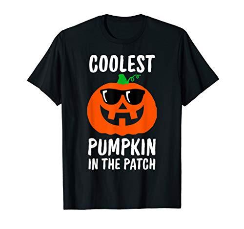 Coolest Kürbis im Patch, Halloween-Kostüm Jungen Mädchen T-Shirt (Grüne Laterne Kinder Kostüm)