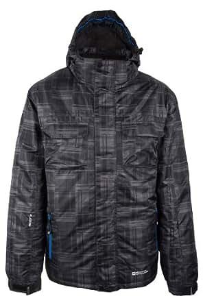 Mountain Warehouse Avalanche Mens Waterproof Breathable Hooded Snowboarding Skiing Ski Jacket Dark Grey X-Small