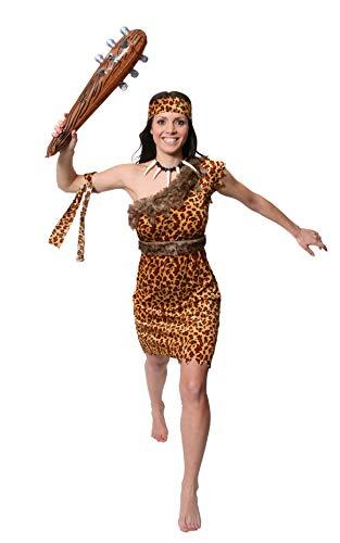 Höhlenmensch Kostüm Muster - ILOVEFANCYDRESS NEANDERTALER KOSTÜME VERKLEIDUNG MIT AUFBLASBARER KEULE FÜR Frauen HÖHLEN Menschen=VORZEIT JETI -MEDIUM